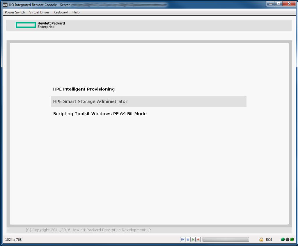 باز کردن نرم افزار HPE Smart Storage Administrator