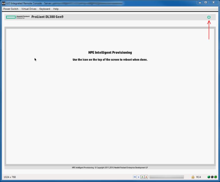 خارج شدن از قسمت HPE Smart Storage Administrator