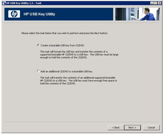 تهیه یک Bootable USB برای سرورهای پرولیانت اچ پی